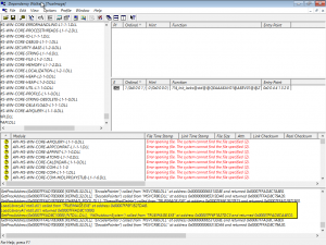 Profiling TrueImage.exe using Dependency Walker